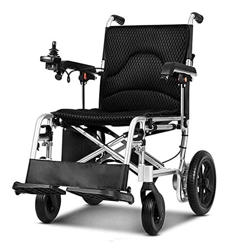 Silla de Ruedas Ligera, eléctrica Plegable Ligera para discapacitados Carro Plegable Scooter para discapacitados Capacidad de acción compensatoria Silla eléctrica, B, 6Ah