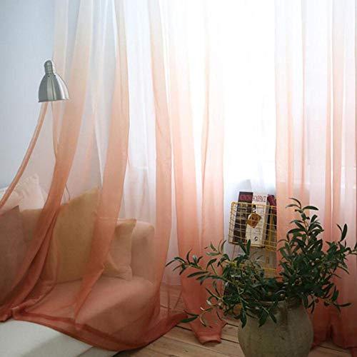 Penveat Vorhänge mit Farbverlauf bedruckt Voile Grau Fenster Modern Wohnzimmer Vorhänge Tüll Durchsichtiger Stoff Rideaux Cortina T & 185 # 30, Tüll 05, B 200 cm x H 265 cm
