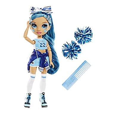 Rainbow High Cheer Skyler Bradshaw – Blue Cheerleader Fashion Doll with Pom Poms and Doll Accessories, Great for Kids 6…