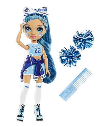 Rainbow High Cheer Sammlermodepuppen - Designerkleidung, Pompons und Cheerleaderpuppe - Spielzeug für Kinder im Alter von 6-12 Jahren - Skyler Bradshaw, Blau - Rainbow High Cheer Serie