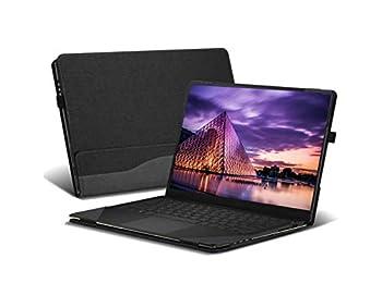 Honeycase Cover Compatible with 14  HP Pavilion 14-bfXXX 14-cdXXX/Pavilion x360 14-cdXX 14M-cdXX Sereis PU Leather Laptop Case Cover Not fit Pavilion 14-bkXX/14-bXX/Pavilion x 360 14-Baxx ,Black