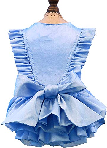 Puppy Face Dog Dress Summer Pet Tutu for Small or Medium Dogs Puppy Clothes Girl Dog Princess Skirt...