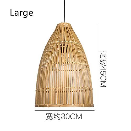 Hanglampen van bamboe, handgeweven uit Zuidoost-Azië, Chinese vintage hanglampen van hout, decoratie voor thuis, keukenaccessoires