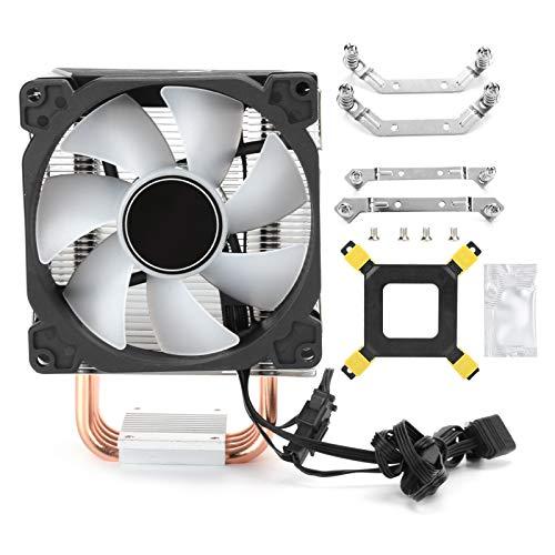 gostcai Enfriador de CPU CR1400, 4 Ventiladores de Torre de Tubos de Calor, Ventilador de 4 Tubos de Calor PWM de 5V RGB