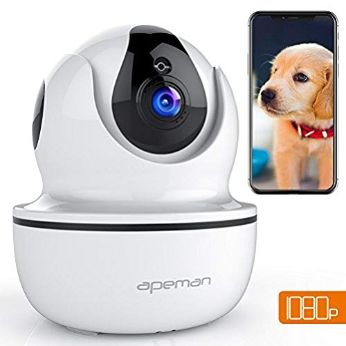 APEMAN 1080P IP WLAN Kamera Überwachungskamera WiFi Smart Home Kamera Baby Monitor mit Nachtsicht Bewegungserkennung 2 Wege Audio