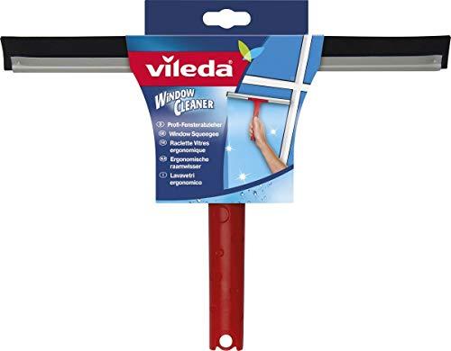 Vileda Profi Fensterwischer Abzieher mit hochwertiger Gummilippe für streifenfreies Abziehen