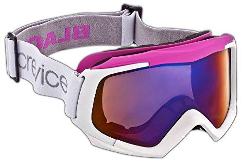 Black Crevice Damen Skibrille mit Doppelscheibe, weiß/pink, BCR043488-1
