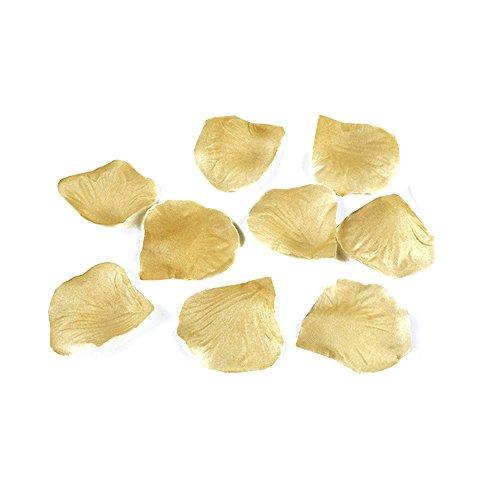 PartyDeco Conf. 100 Rosenblätter aus Stoff, goldfarben