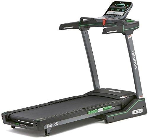 Reebok Unisex's Jet 200 Treadmill, Black/Green, One Size