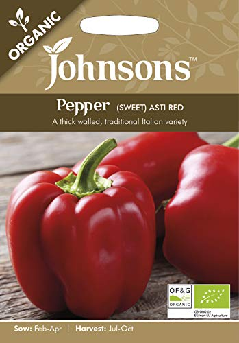Johnsons UK/JO/VE Semences de poivrons rouges - 1