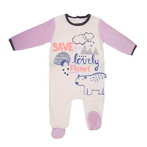 Pyjama bébé velours ivoire Igloo - Taille - 18 mois (86 cm)