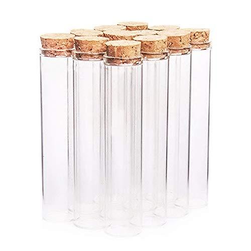 Danmu Art 12pcs 26ml 22mm x 100mm mini botellas de vidrio frascos tubo de ensayo con tapones de corcho de madera