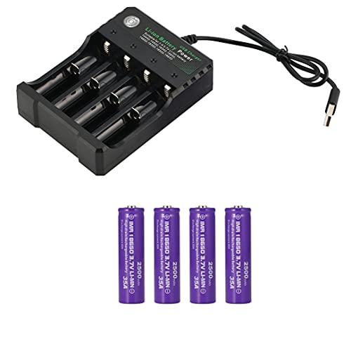 Vtc6 3,7 V 2500 Mah batería Recargable de Iones de Litio 18650 para Sony Us18650 C6 30A Herramienta de Cigarrillo electrónico + Cargador 18650