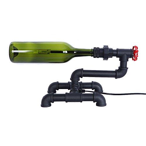 KMY Caño De Agua con Pantalla De Vidrio Lámpara De Mesa De Steampunk Robot Lámpara De Escritorio para La Sala De Estar, Dormitorio De Noche G4 Verde
