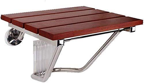 ZLININ Sgabelli sgabello in legno massello da bagno sedia a parete pieghevole sgabello anziani/donne incinte/cambiamento scarpe sgabello da bagno sicuro sedia max 250kg
