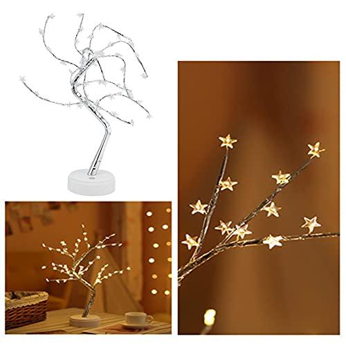 Faceuer Luz de Noche, lámpara de árbol LED portátil 60 LED para Sala de Estar para decoración de Escritorio para Dormitorio