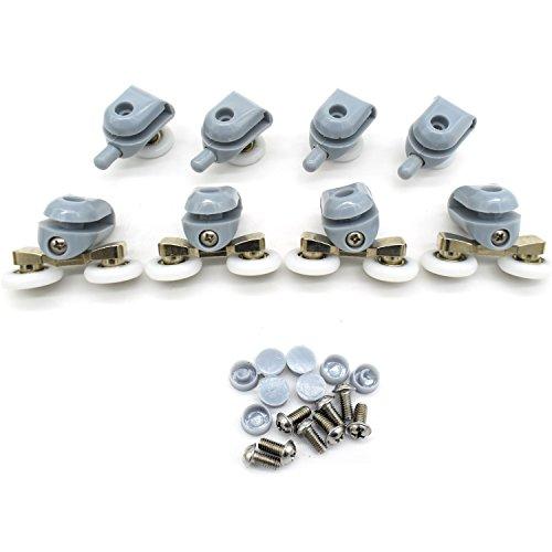 Rodamientos dobles para mamparas de ducha, 22mm de diámetro; piezas de repuesto para ruedas de baño, CY-903AB (8 unidades)