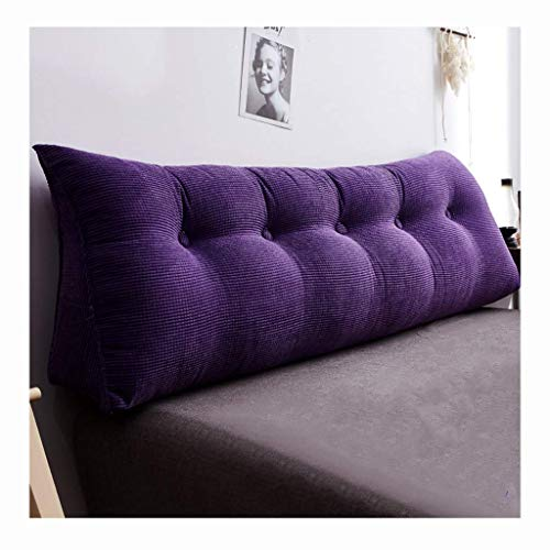 Leeskussen Triangular Wedge Cushion Gestoffeerde rugkussens voor slaapbank hoofddeel rugleuning positionering ondersteuning nekkussen 200 cm (kleur: oranje) paars