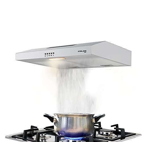 Gasland Chef SR60SP Campana Extractora de 60 cm, Extractora de Bajo Armario, con Filtros de Aluminio Reutilizables, 2 W LED, 3 Velocidades de Campana Extractora