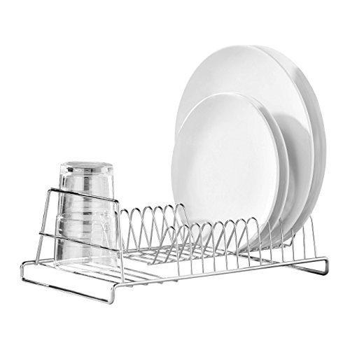 Premier Housewares Kleine Vorratsdose, Glas, Edelstahl gebürstet ,  12 Teller