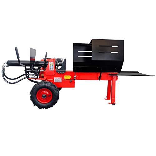 CROSSFER Holzspalter HLS12T-G6.5/NT19 hydraulisch / 12 Tonnen Spaltkraft / 6,5PS Benzinmotor OHV 4 Takt luftgekühlt / 52cm Spaltlänge/Zweihand Bedienung/Luftbereifung/Hydraulikspalter