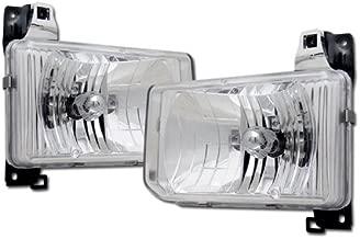 HS Power Chrome Housing JDM Crystal Clear Head Lights Lamp KS for 1987-1995 Nissan Pathfinder/Hardbody D21