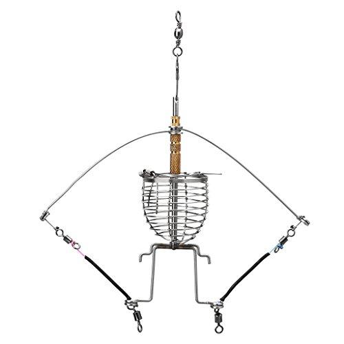 exing alimentos de pesca Anzuelo lanzador multifunción automático gancho de jaula de resorte de trampa, color Comme des images une taille