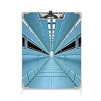 クリップボード A4 宇宙の装飾 子供の贈り物バインダー 宇宙船のシャトルのサイエンスフィクションの穴の未来的な到着 A4 タテ型 クリップファイル ワードパッド ファイルバインダー 携帯便利水色