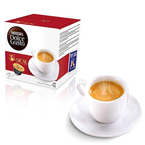 Kaffeekapseln Dolce Gusto Nescafé Caffe Tee kalt warm (96, SICAL)