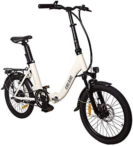 RDJM Bici electrica, Bicicleta Plegable eléctrica 16 '' 36V 250W Aluminio Bicicleta eléctrica de Ciclo al Aire Libre Trabajar el Cuerpo Viaje Capacidad de Carga 110 Kg