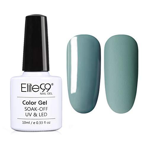 Elite99 Esmaltes Semipermanentes de Uñas en Gel UV LED, Nueva Selección de Tono de Vanilla Gris, Esmaltes de Uñas 10ML 3901