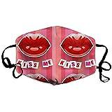 Mundmaske Tuitebla Kiss Me Pink Hintergrund Personalisierte Maske Aktivkohle Polyester Staubdicht Unisex Für Outdoor-Reisen