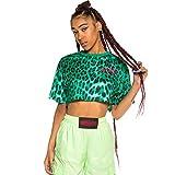GRIMEY Camiseta Chica Yanga Mesh Crop Top SS20 Green-M