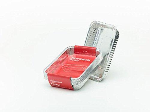 Peter Süße Lot de 10 ramasse-graisses professionnels en aluminium - 19,1 x 12,7 x 3,6 cm - Pour barbecue à gaz