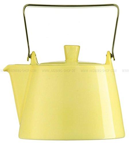 Arzberg Tric Gelb Teekanne 6 P. Deckel, Porzellan, Yellow, 8.7 x 8.7 x 7.5 cm