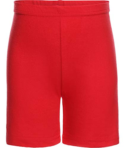 Ladeheid Leggins Short Mallas Cortas en Algodón Niña LAMA07 (Rojo18, 140-146)