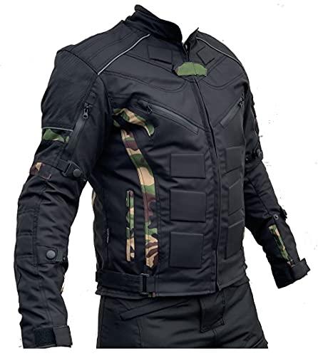 L&J Motorradjacke - Jacke mit herausnehmbaren Protektoren - Textil Motorrad Jacke Biker (xx_l)
