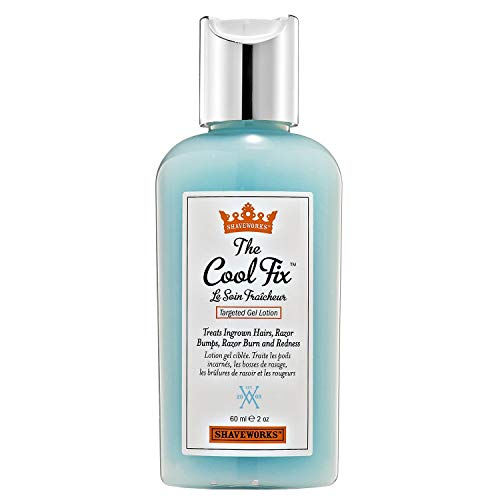 Shaveworks The Cool Fix, After Shave/Post Waxing Solution for Ingrown Hair, Razor Bumps and Razor Burns, 2 Fl Oz.