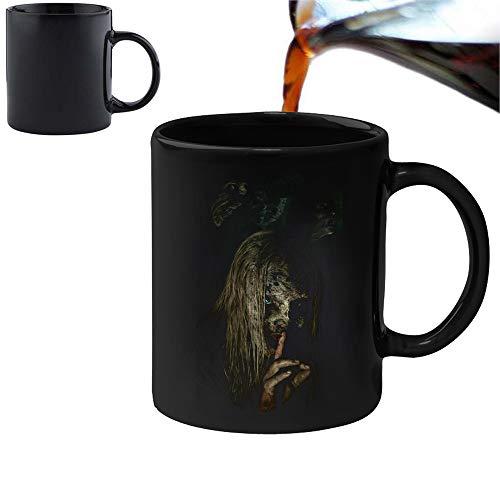Walking Dead Zombies – Taza mágica con cambio de calor y caja de regalo, set de té, café, oficina, hogar