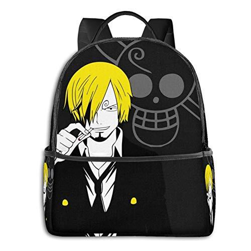 Sanji Vinsmoke de Anime Manga bolsa de una pieza para estudiantes, unisex, diseño de dibujos animados, mochila escolar impresa 36,8 x 30,5 x 12,7 cm