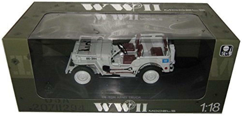el precio más bajo 1 4 Ton UN WW 2 Jeep Beige Beige Beige 1 18 by Welly 18036 UN by Welly  bajo precio
