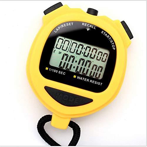 Temporizador Electrónica cronómetro con luz de Fondo Cronómetro Temporizador Doble Fila multifunción...
