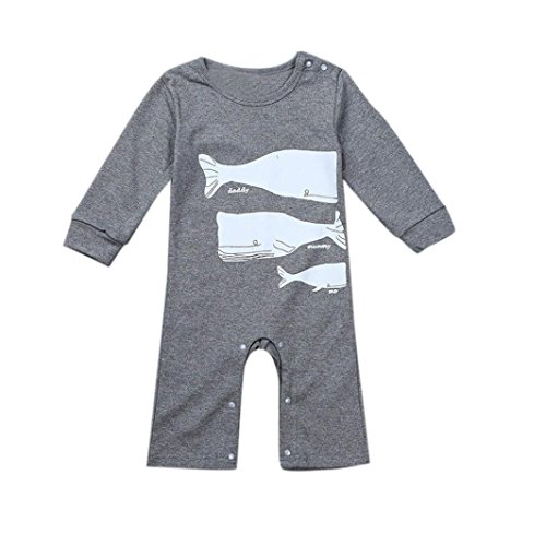 Ouneed® 0-2 Ans Bebe Grenouillères Imprime Manches Longues (90)