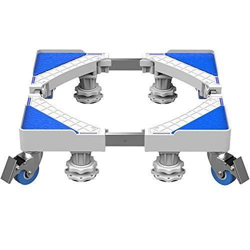 QINGMM Socle Lave Linge, Base réglable Mobile multifonctionnelle, Support d'appareils ménagers avec Support télescopique pour Machine à Laver, sèche-Linge et réfrigérateur,B