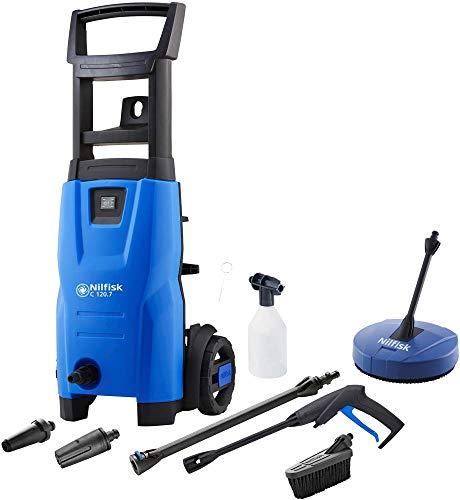 Pressure Washer & Patio Cleaner, Flow Rate Max 310L/H, 120Bar, Power Rating 1.4Kw, Pressure Max 120Bar, Nilfisk - C120 7-6 Series, Supply Voltage V Ac 230V, 295mm, Height 660mm, Hose Length 5M, Temper