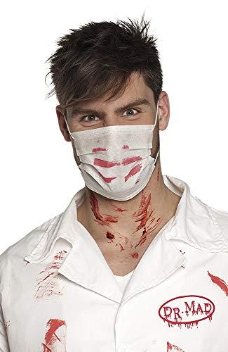 Boland 72232 - Maschera chirurgica Bloody, Colore: Bianco/Rosso