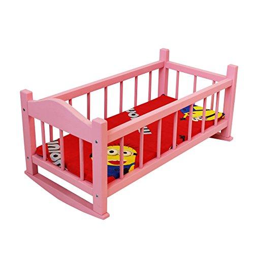 Puppenbett aus holz/ Holzschaukel Krippe für Puppen / Holzspielzeug / Puppen Krippe 56 cm / Puppenbett