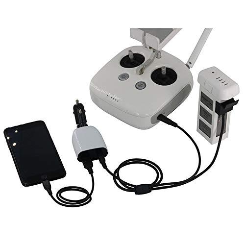 Kiowon DJI Phantom 3シリーズ用 車載 USBカーチャージャー 予備バッテリー/受信機/携帯電話/タブレット 対応 急速充電 インタフェース3個