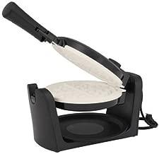 Oster Titanium-Infused DuraCeramic Flip Waffle Maker, Black (CKSTWFBF10W-TECO)