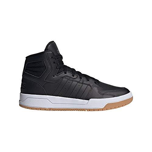 adidas ENTRAP Mid, Zapatillas de Baloncesto Hombre, NEGBÁS/NEGBÁS/GUM3, 45 1/3 EU